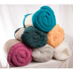 Wool Wet Felting Batts Four Colour 1 lb Bag