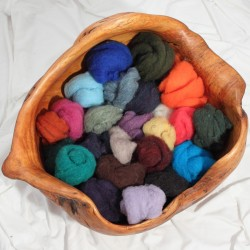 1 lb Multi-Colored Wet Felting Fiber