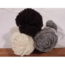 Mule Spinner 3-Ply 100% Wool - Skeins